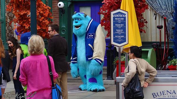 Disneyland Resort, Disney California Adventure, Hollywoodland, Monsters University, Monster U, Mike, Sully