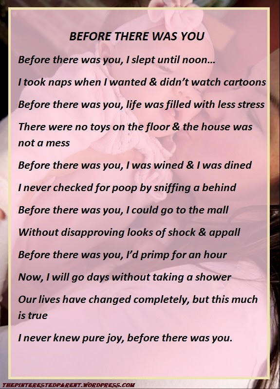 Before There Was You A Mommys Poem The Pinterested Parent