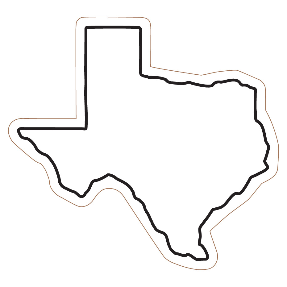 Free State Of Texas Outline Download Free Clip Art Free