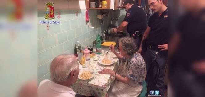 Policiais cozinham para casal de idosos que choravam incontrolavelmente
