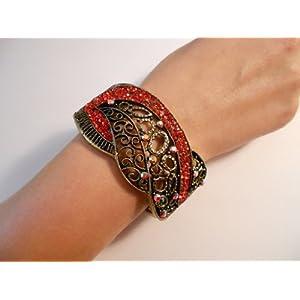 Vintage Fashion Jewelry Retro Crystal Bangle (Assorted Colors)