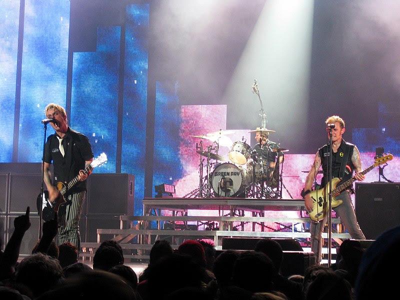 Imagen de un concierto de Green Day