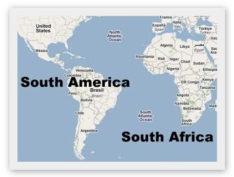 africa and america map Map Of Africa Africa And South America Map africa and america map