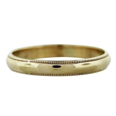 14k Yellow Gold 1.6dwt Mens Wedding Band Ring Boca Raton