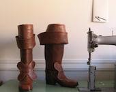 Custom Leather Bucket Boots - zerkahloostrah