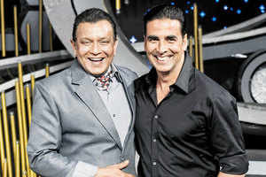 Akshay and Mithun share a private joke