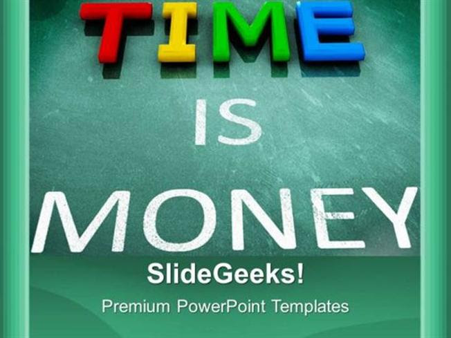 Finance Time Is Money Business Finance Ppt Template Powerpoint Template