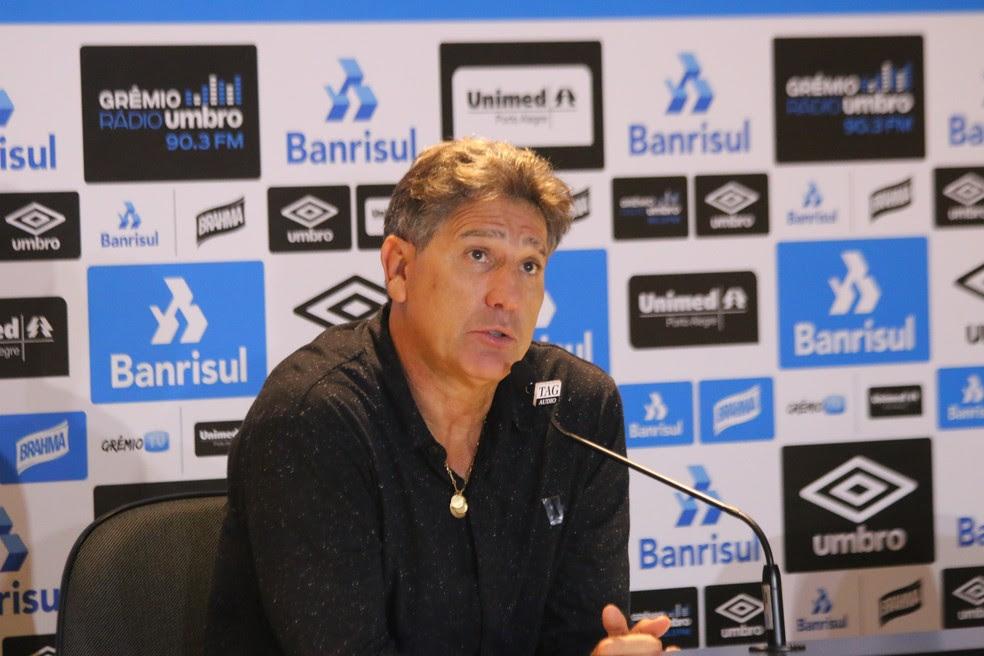 Renato Gaúcho elogia atuação do Grêmio em vitória sobre o Flu (Foto: Eduardo Moura/GloboEsporte.com)