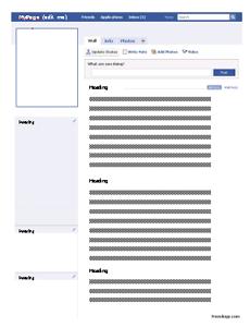 Faux Facebook Profile Worksheet - Freeology