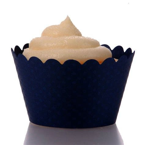 Emma Cupcake Wrappers   Navy Blue (12 Wrappers) BEST