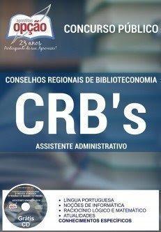 Apostila Concurso CRBs Assistente Administrativo 2016.