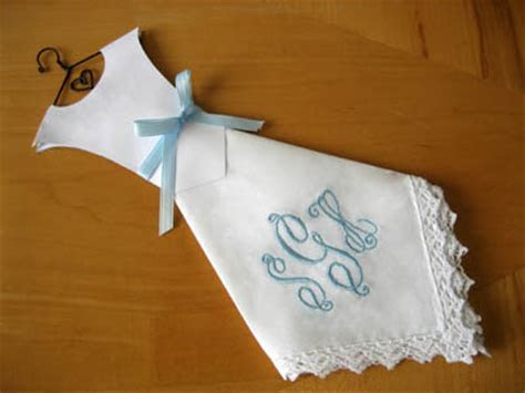 Making Wedding Dress Hankie Favors