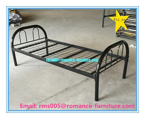 Cheap Simple Design High Loading Capacity Metal Single Bed B005