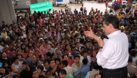 Peña Nieto en Chilpancingo. Foto: XInhua.