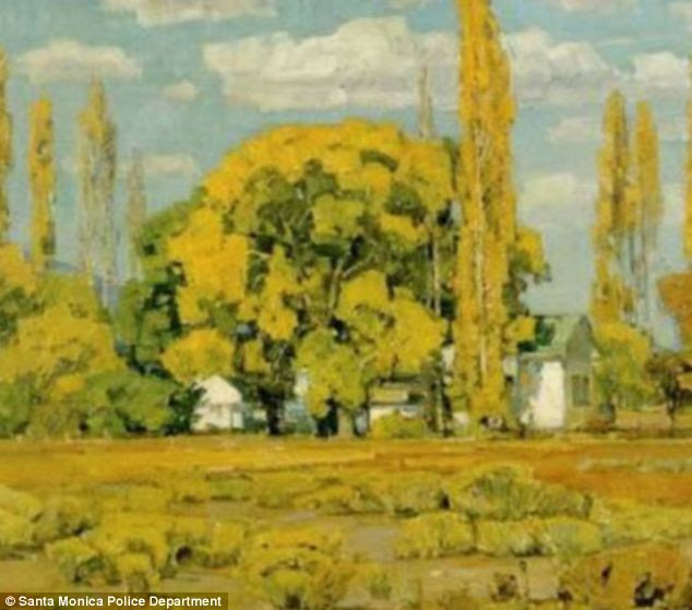 Raid: This piece by American landscape painter William Wendt was part of the stolen haul