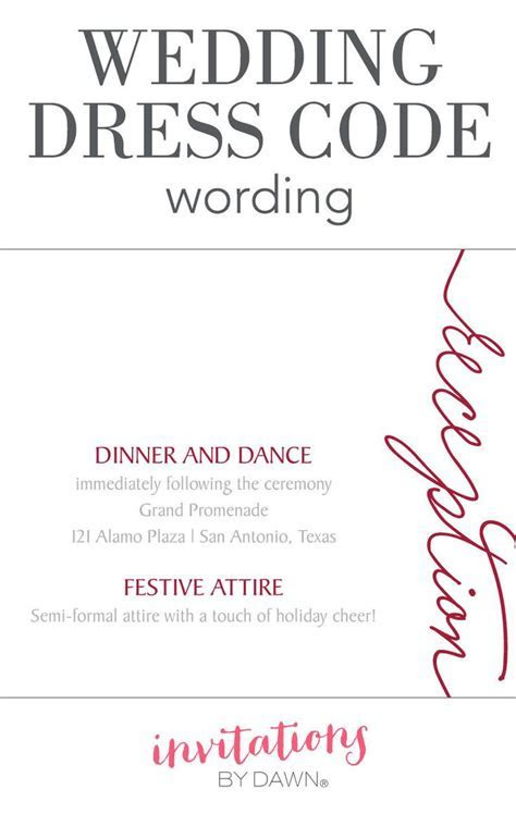 Wedding Dress Code Wording   Wedding Help & Tips   Wedding