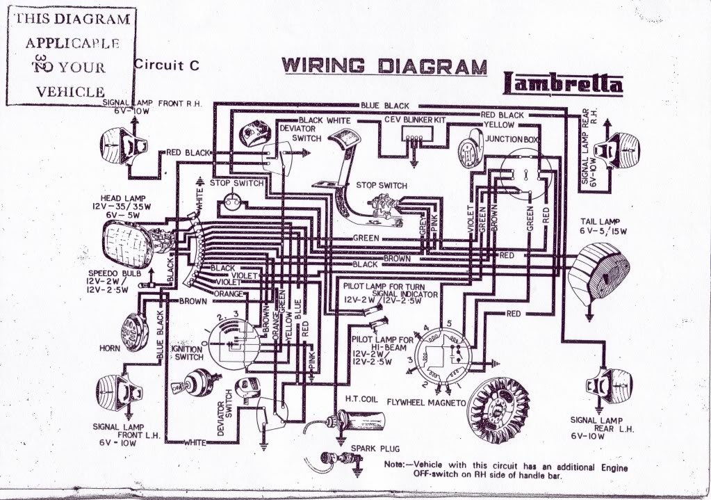 Lambrettum Scooter Wiring Diagram 100