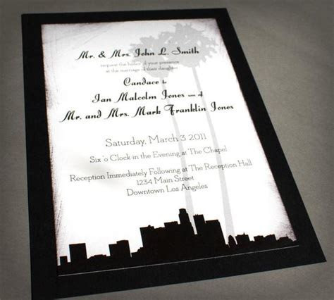 Los Angeles Invitation Wedding Birthday Save the Date Skyline