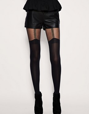 Image 1 of House Of Holland For Pretty Polly Chain Suspender Tights