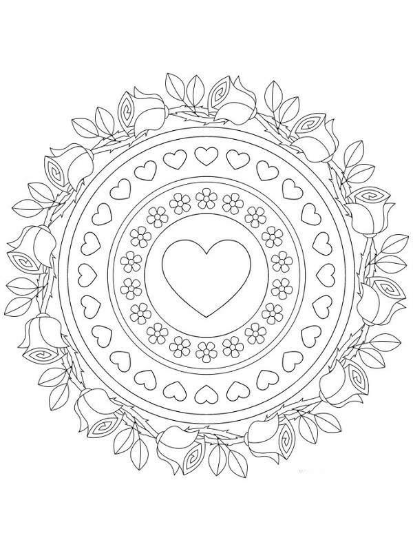 Pintando Y Coloreando Mandalas De Amor
