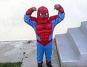 L'ultima foto di Aaron Shannon jr, 5 anni, in costume da Spiderman