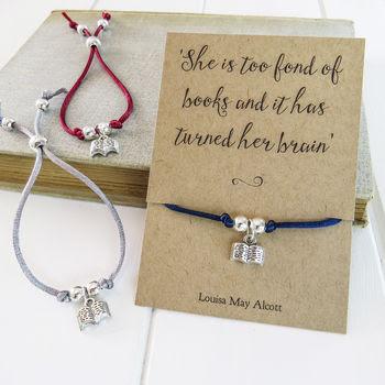 Book Lover Friendship Bracelet