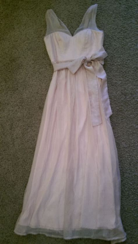 anthropologie bhldn bridesmaid chiffon size  rose dusty