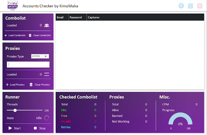 BEIN Sports Accounts Checker by KimoMaka