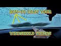 How To Thaw Windshield Wiper Lines