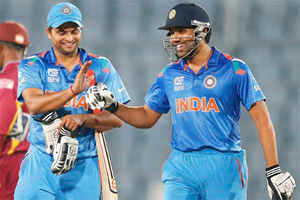 World T20: Rohit Sharma, Virat Kohli lead India to 7-wicket victory over West Indies