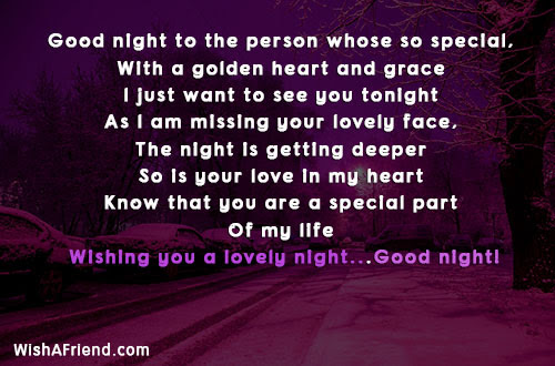 Good Night To The Person Whose Cute Good Night Message