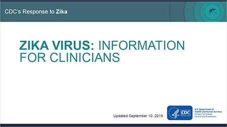Zika vírus: informações para médicos - miniatura de capa de conjunto de slides
