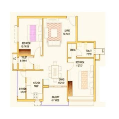architectural layout services bhk sample flat layout