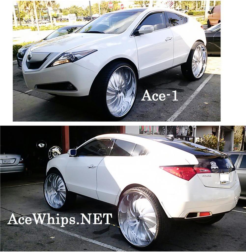 "Ace-1: Twon's Chrome Pink Acura ZDX On 32"" Forgiatos"