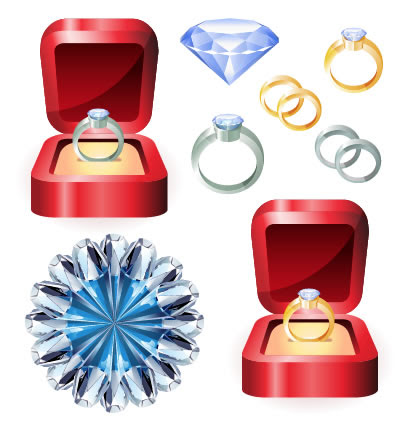 結婚指輪ダイヤモンドのイラストaieps ベクタークラブ