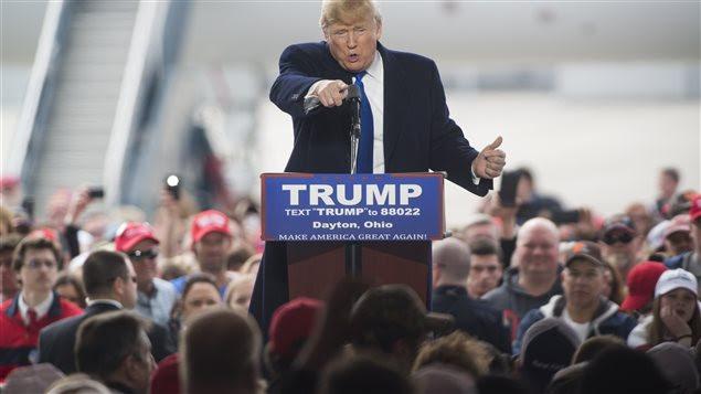 Donald Trump lors d'un discours en Ohio