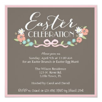 Easter Brunch Customized Announcement Cards