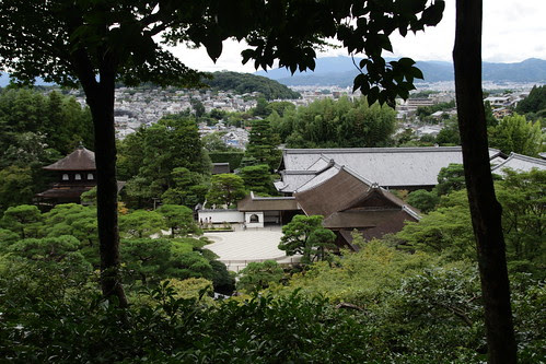 View of Ginkakuji from top of the hill