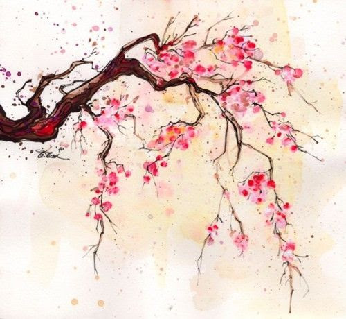 cherry blossom, painting