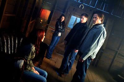 Sam, Dean and the demon named Ruby confront Anna, a fallen angel.