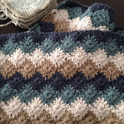 "Free Pattern for A Harlequin stitch blanket (click on the word, ""here"" and it takes you to the free pattern)"