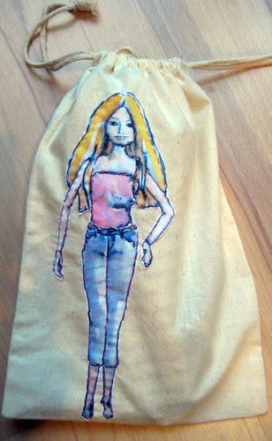 Barbie in a bag