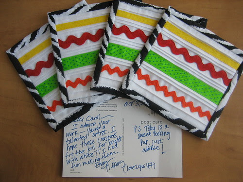 Coasters from Tiffany (love2quilt7)