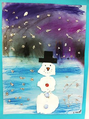 torn paper snowmen