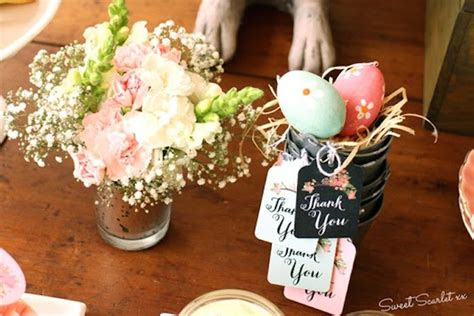 karas party ideas chalkboard spring party floral easter