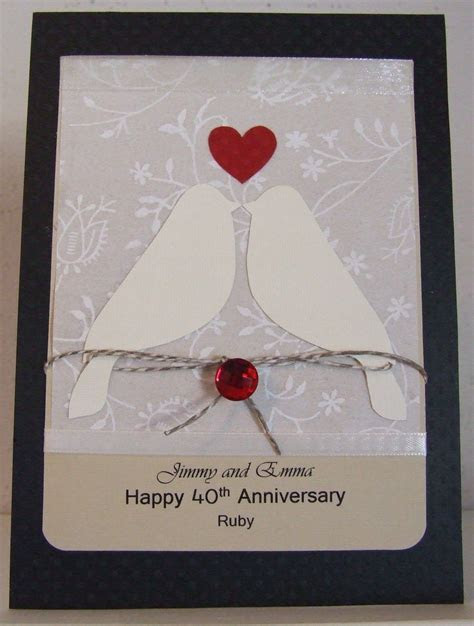 40th (Ruby) Wedding Anniversary card    ANNIVERSARY   Ruby