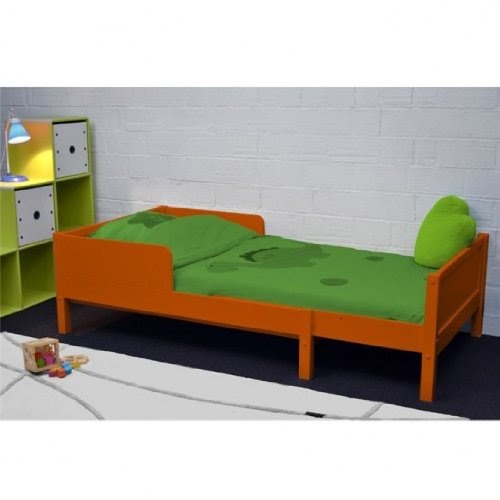 chambre denfant lit enfant volutif avec matelas colors orange. Black Bedroom Furniture Sets. Home Design Ideas