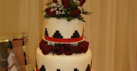 Sprinklebelle: Navajo Basket Weave Wedding Cake