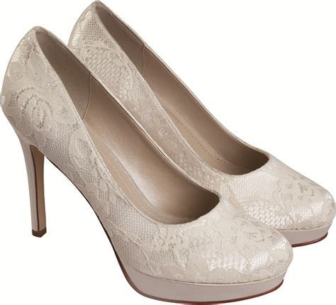 Cheap wedding shoes   Rainbow Club Ella Dyeable Lace