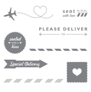 Sent with love stamp set